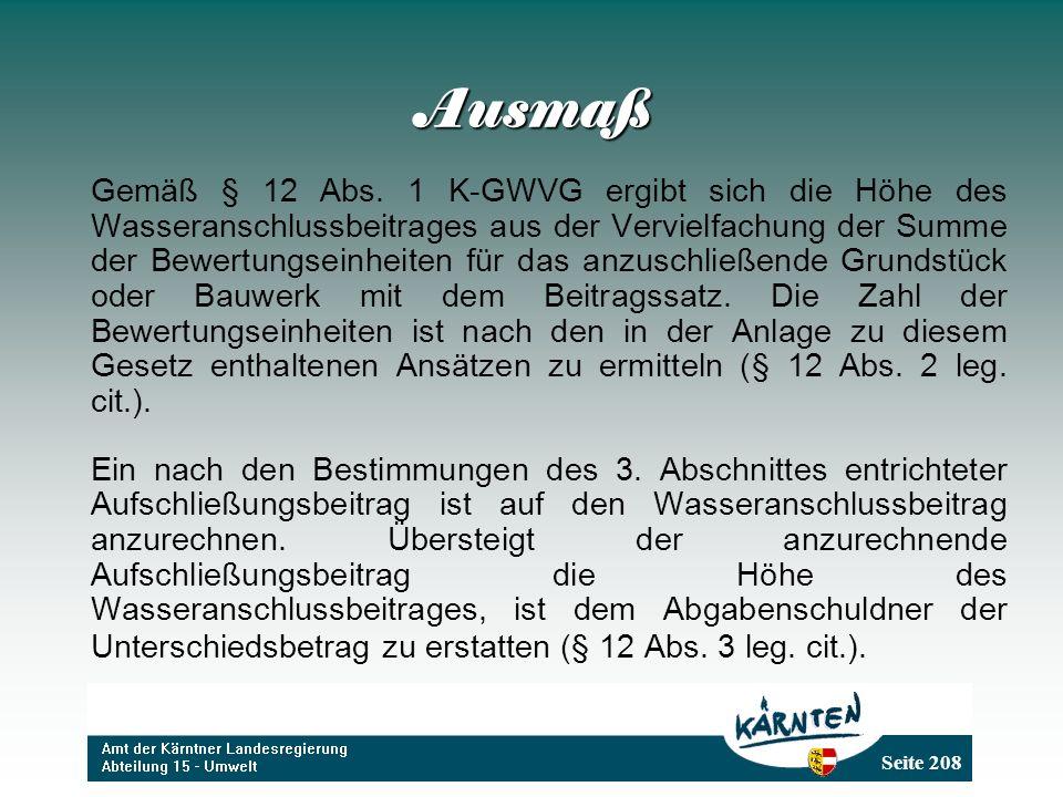 Seite 208 Ausmaß Gemäß § 12 Abs.