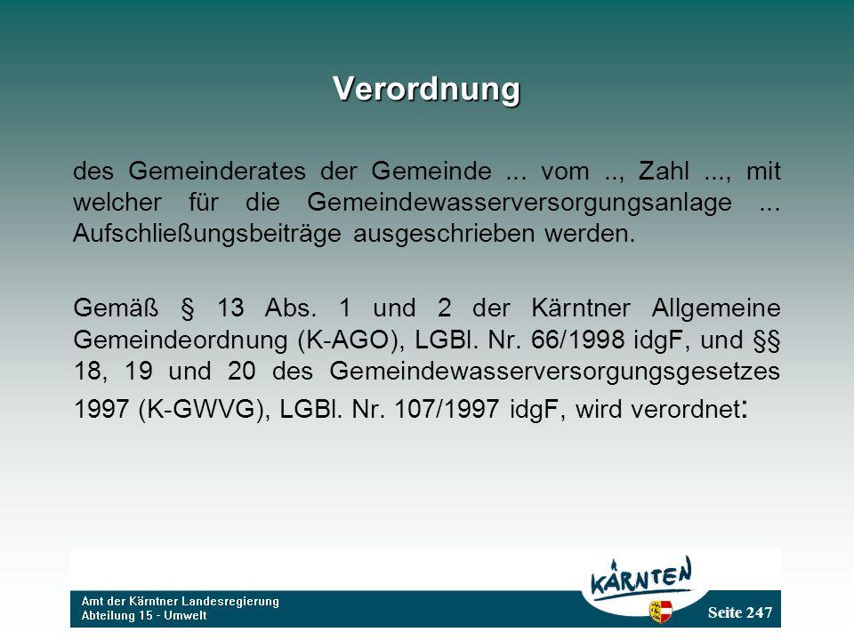 Seite 247 Verordnung des Gemeinderates der Gemeinde...
