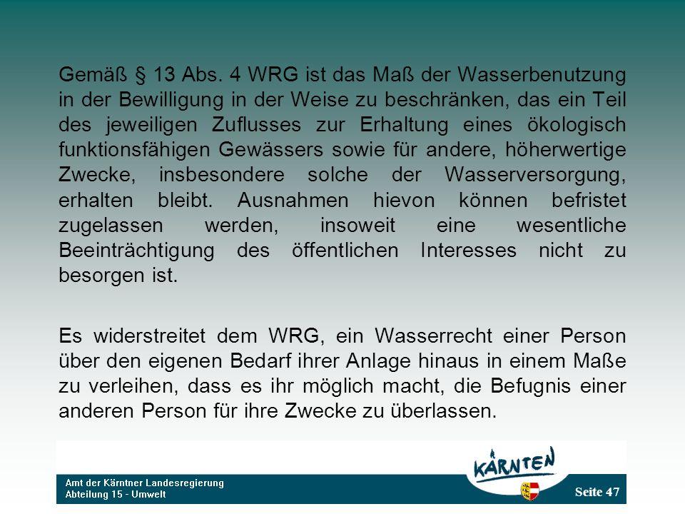 Seite 47 Gemäß § 13 Abs.