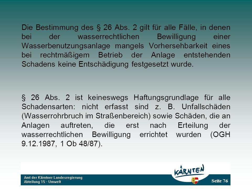 Seite 76 Die Bestimmung des § 26 Abs.