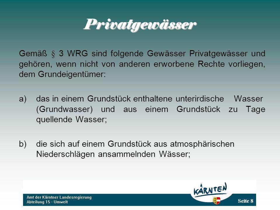 Seite 59 Die Vermeidung einer Gesundheitsgefährdung ist gemäß § 105 WRG im öffentlichen Interesse gelegen.
