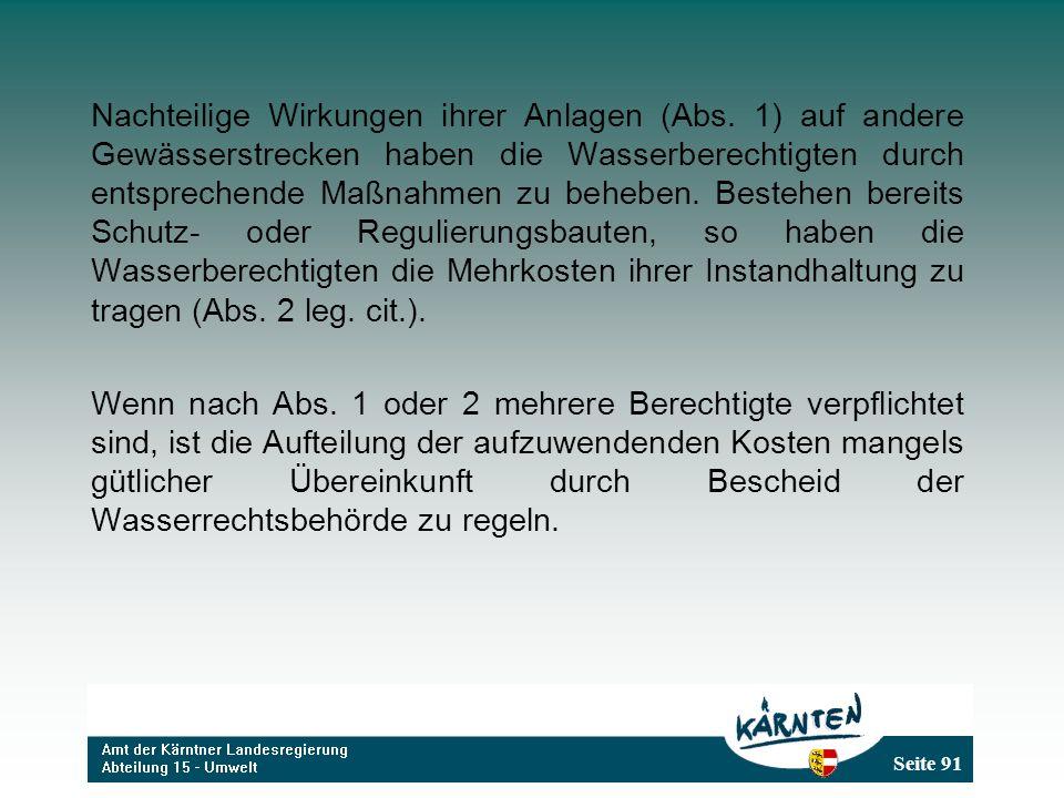 Seite 91 Nachteilige Wirkungen ihrer Anlagen (Abs.