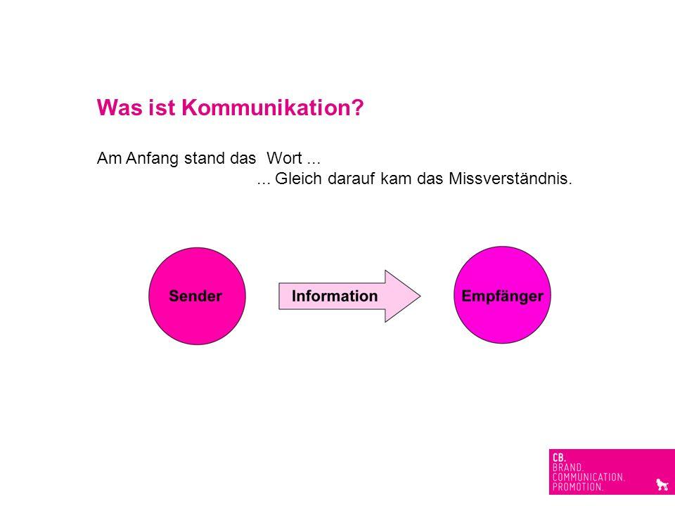 Was ist Kommunikation? Am Anfang stand das Wort...... Gleich darauf kam das Missverständnis.