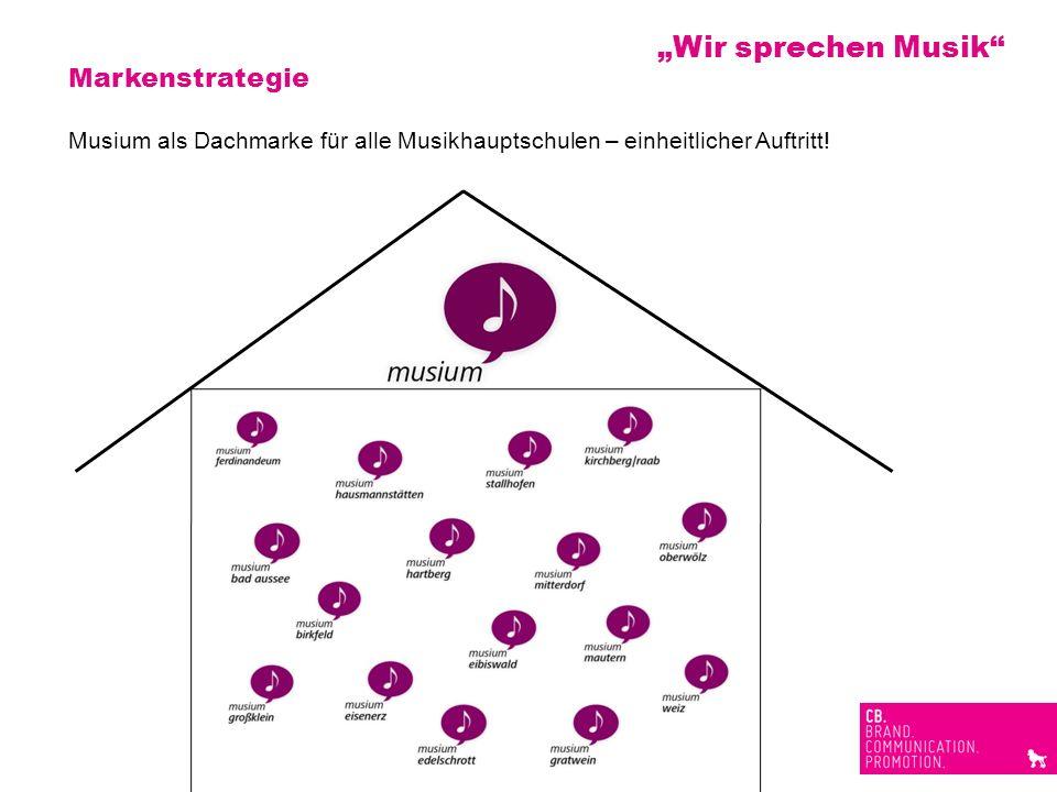 Markenstrategie Musium als Dachmarke für alle Musikhauptschulen – einheitlicher Auftritt! Wir sprechen Musik