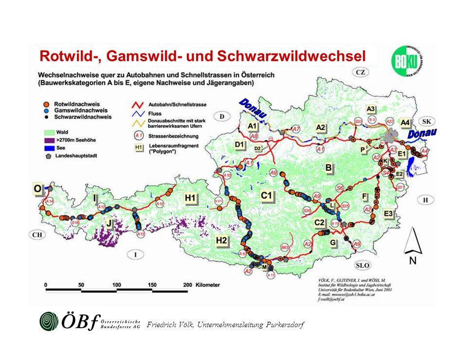 Friedrich Völk, Unternehmensleitung Purkersdorf Rotwild-, Gamswild- und Schwarzwildwechsel