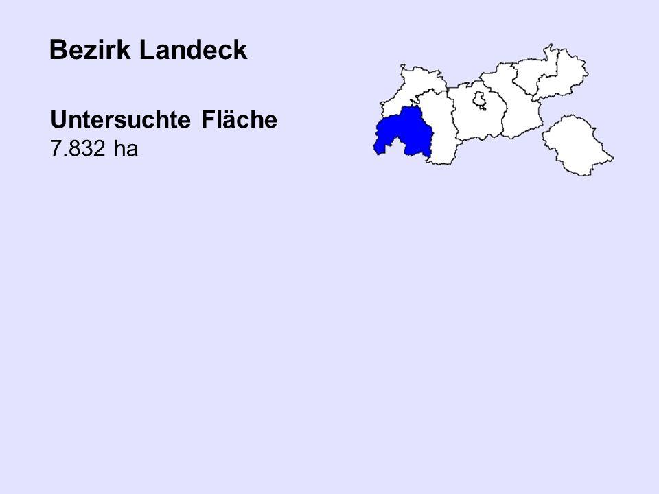 Bezirk Landeck Untersuchte Fläche 7.832 ha