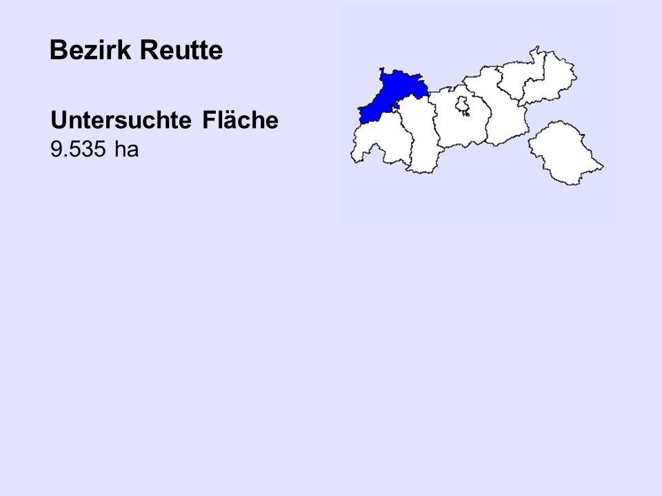 Bezirk Reutte Untersuchte Fläche 9.535 ha