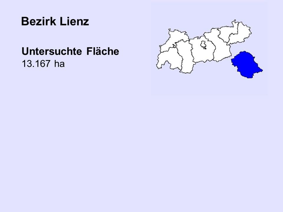 Bezirk Lienz Untersuchte Fläche 13.167 ha