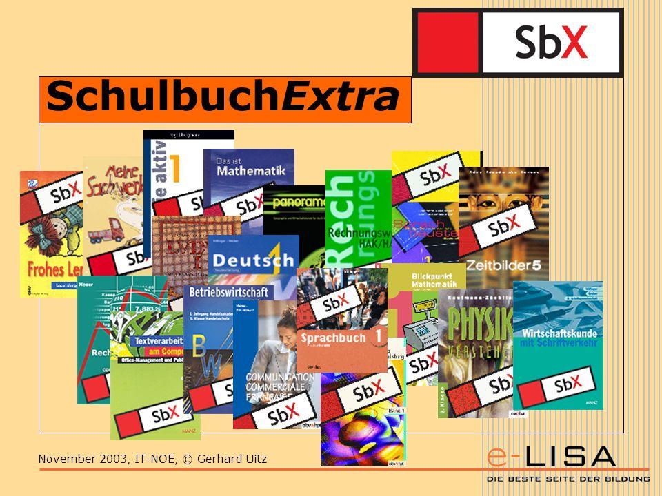 November 2003, IT-NOE, © Gerhard Uitz SchulbuchExtra