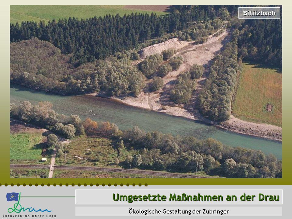 Siflitzbach Umgesetzte Maßnahmen an der Drau Ökologische Gestaltung der Zubringer
