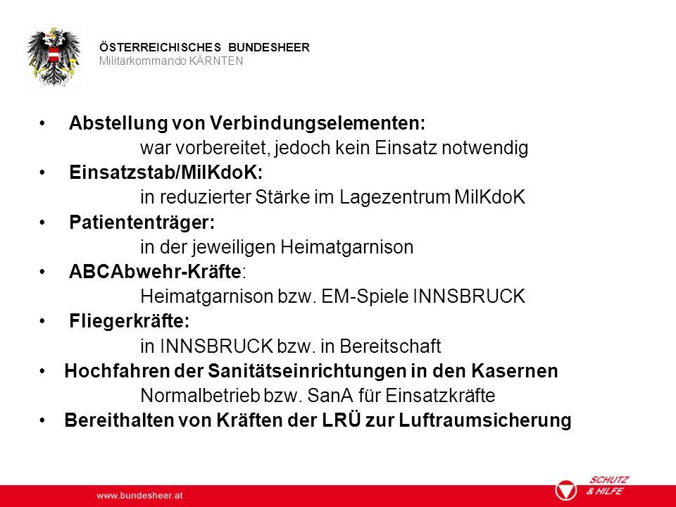 www.bundesheer.at ÖSTERREICHISCHES BUNDESHEER Militärkommando KÄRNTEN Infrastruktur Verpflegung