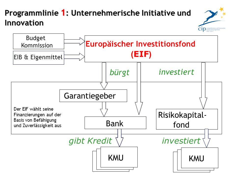 Programmlinie 1 : Unternehmerische Initiative und Innovation
