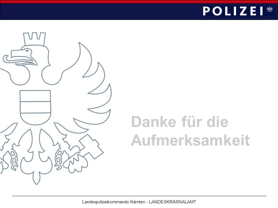 Landespolizeikommando Kärnten - LANDESKRIMINALAMT Danke für die Aufmerksamkeit