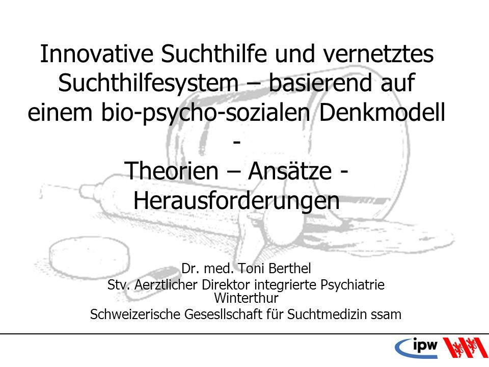 22 Zusammenfassung Deskriptive Diagnostik Bio-psycho-soziales Erklärungsmodell Therapien –Spezialisierung –Techniken –Vernetzung Sucht als ubiquitäres Thema Zuständigkeiten