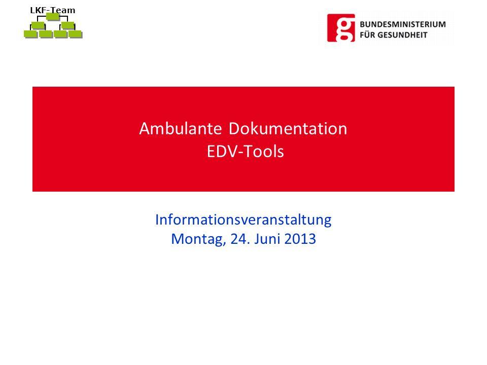 LKF-Team Ambulante Dokumentation EDV-Tools Informationsveranstaltung Montag, 24. Juni 2013