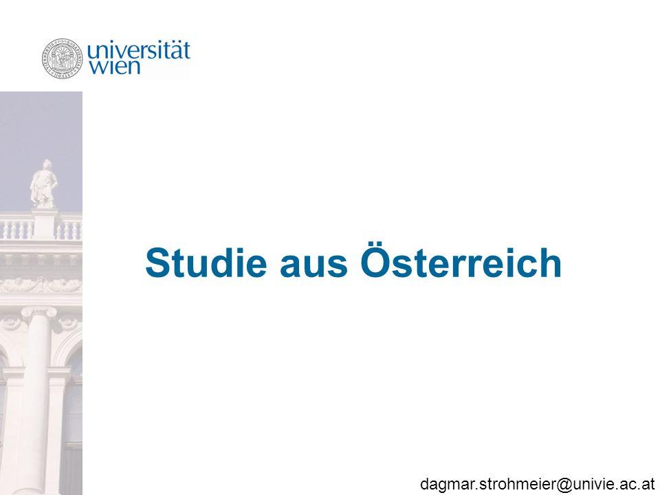 dagmar.strohmeier@univie.ac.at Studie aus Österreich