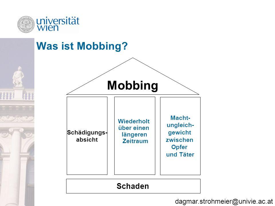 dagmar.strohmeier@univie.ac.at Was ist Mobbing.