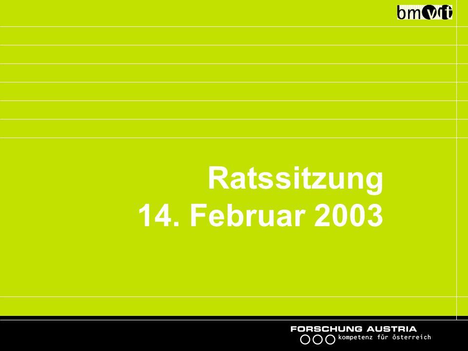 Ratssitzung 14. Februar 2003