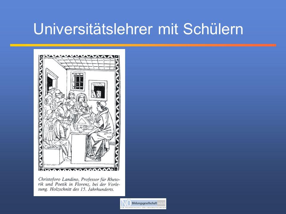 Voraussetzungen Lesen Schreiben Latein (hoher Anteil von Mönchen) Artistenfakultät