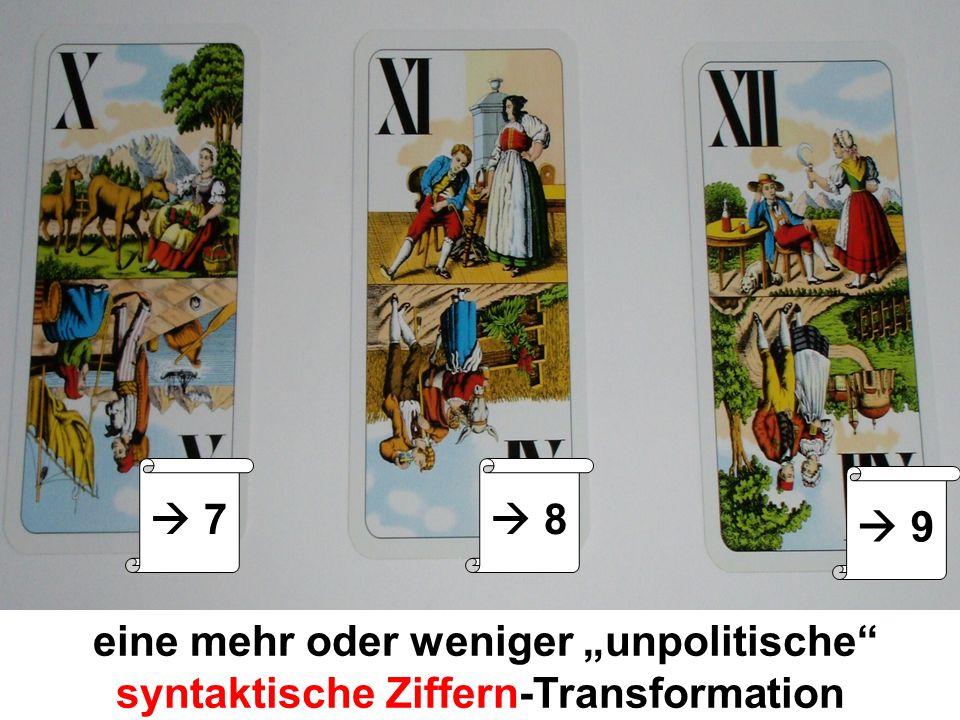 eine mehr oder weniger unpolitische syntaktische Ziffern-Transformation 7 8 9