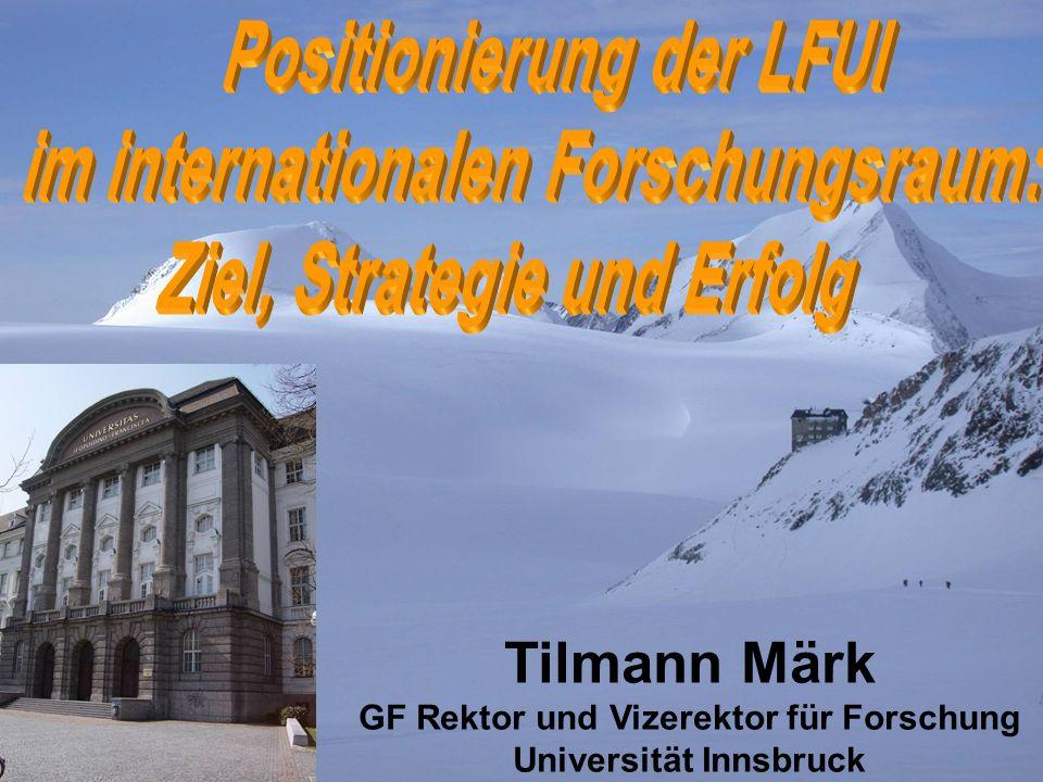 Tilmann Märk GF Rektor und Vizerektor für Forschung Universität Innsbruck