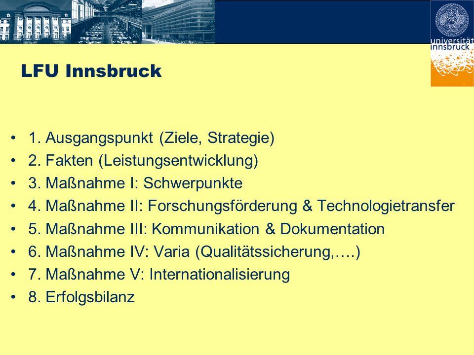 Förderinstitutionen und Wirtschaftspartner Universität 3. Maßnahme II: Transfereinrichtungen