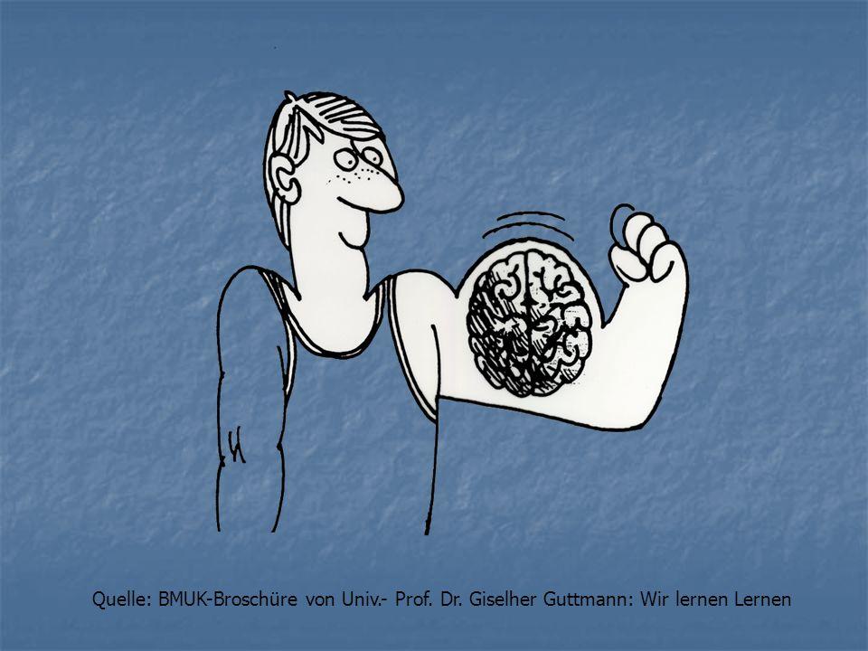 Quelle: BMUK-Broschüre von Univ.- Prof. Dr. Giselher Guttmann: Wir lernen Lernen