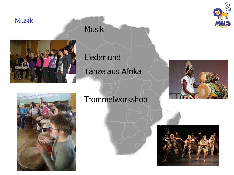 Musik Lieder und Tänze aus Afrika Trommelworkshop