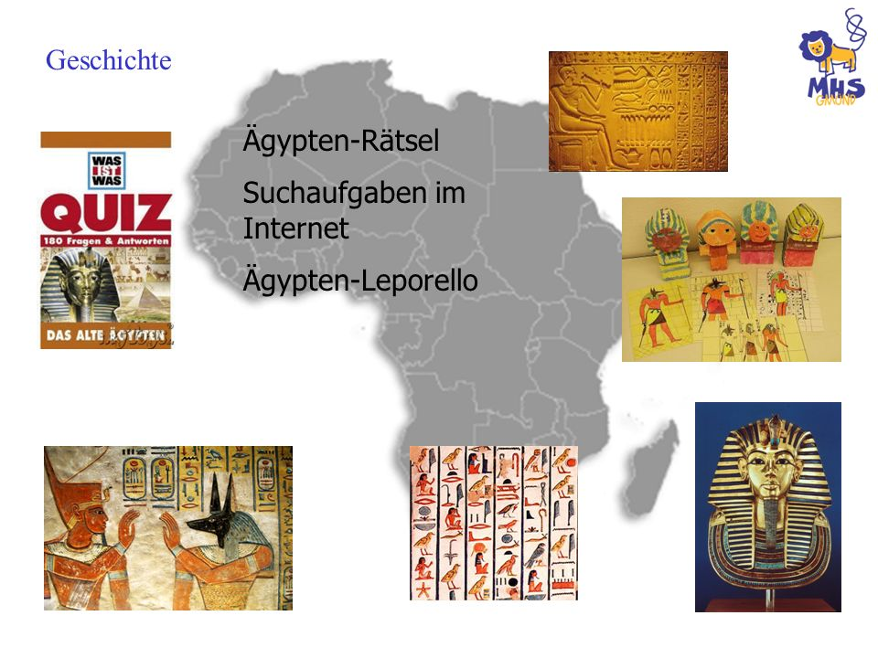 Geschichte Ägypten-Rätsel Suchaufgaben im Internet Ägypten-Leporello