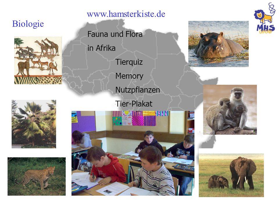 Biologie Fauna und Flora in Afrika Tierquiz Memory Nutzpflanzen Tier-Plakat www.hamsterkiste.de