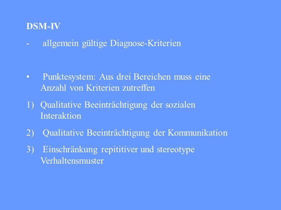 Diagnose für eine Findung einer geeigneten Therapiemöglichkeit Beratung der Familie, Freunde und Bekannte Forschungszwecke Beschreibung der Umwelt Ver