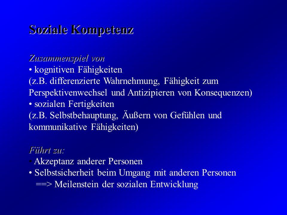 Schutzfaktoren: -stabile emotionale Beziehung zu mindestens einem Elternteil oder einer anderen Bezugsperson -soziale Unterstützung durch Personen außerhalb der Familie -positives sozial-emotionales und zugleich Norm-orientiertes Erziehungsklima -Vorbilder für die konstruktive Bewältigung von Problemen bei den Bezugspersonen -dosierte soziale Verantwortlichkeiten -kognitive Fähigkeiten -Temperamentsmerkmale -Erfahrungen von Selbstwirksamkeit und positives Selbstkonzept -aktiver Bewältigungstil bei Belastungen Erleben von Sinnhaftigkeit und Kohärenz im eigenen Leben Aggression als gelerntes Verhalten Aggressive Verhaltensweisen können erlernt werden und damit prinzipiell verändert werden.
