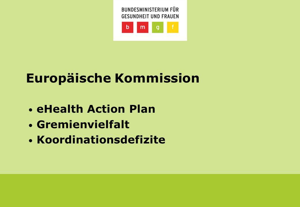 Europäische Kommission eHealth Action Plan Gremienvielfalt Koordinationsdefizite