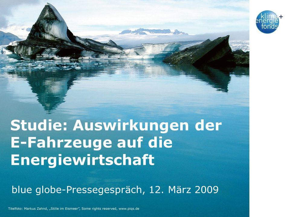 Studie: Auswirkungen der E-Fahrzeuge auf die Energiewirtschaft blue globe-Pressegespräch, 12.