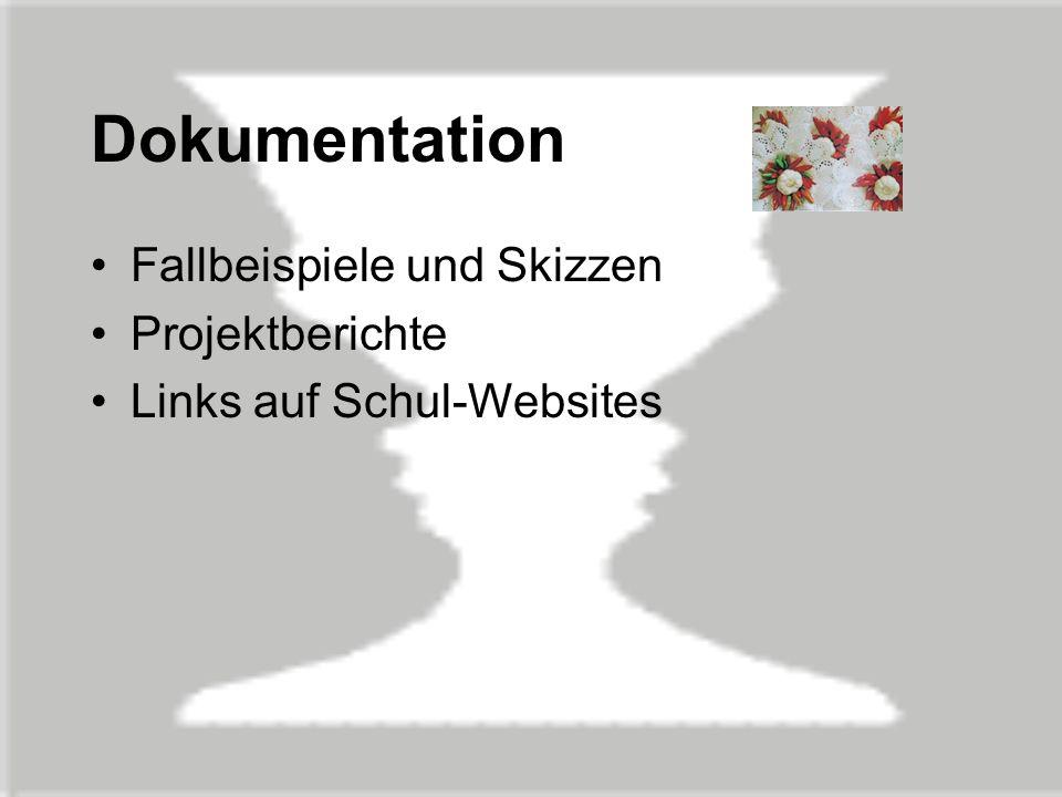 Dokumentation Fallbeispiele und Skizzen Projektberichte Links auf Schul-Websites