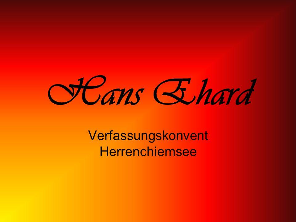 Hans Ehard Verfassungskonvent Herrenchiemsee