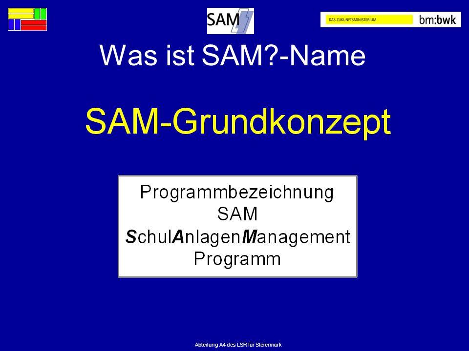 Abteilung A4 des LSR für Steiermark Was ist SAM?-Name