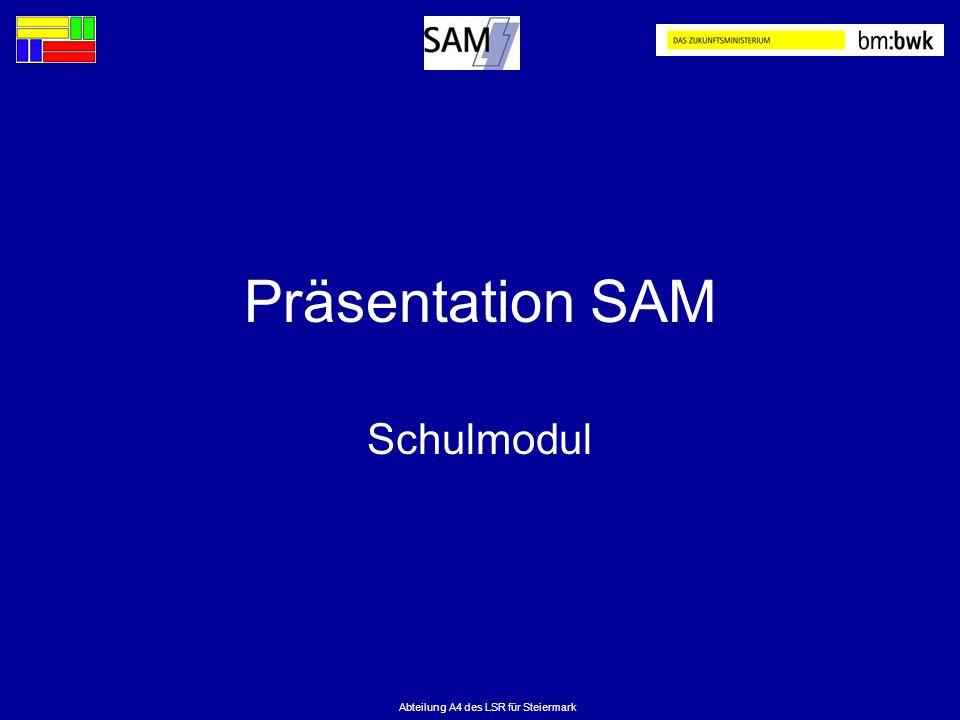 Abteilung A4 des LSR für Steiermark Präsentation SAM Schulmodul
