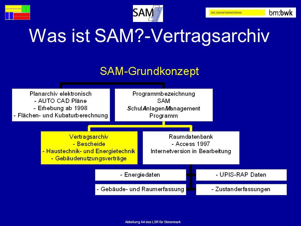 Abteilung A4 des LSR für Steiermark Was ist SAM?-Vertragsarchiv