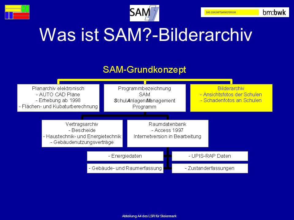 Abteilung A4 des LSR für Steiermark Was ist SAM?-Bilderarchiv