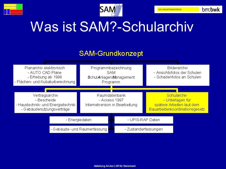 Abteilung A4 des LSR für Steiermark Was ist SAM?-Schularchiv