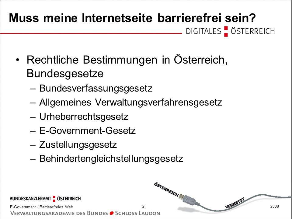 E-Government / Barrierefreies Web 432008 Lesbare und verständliche Sprache - WCAG 1.0 14.