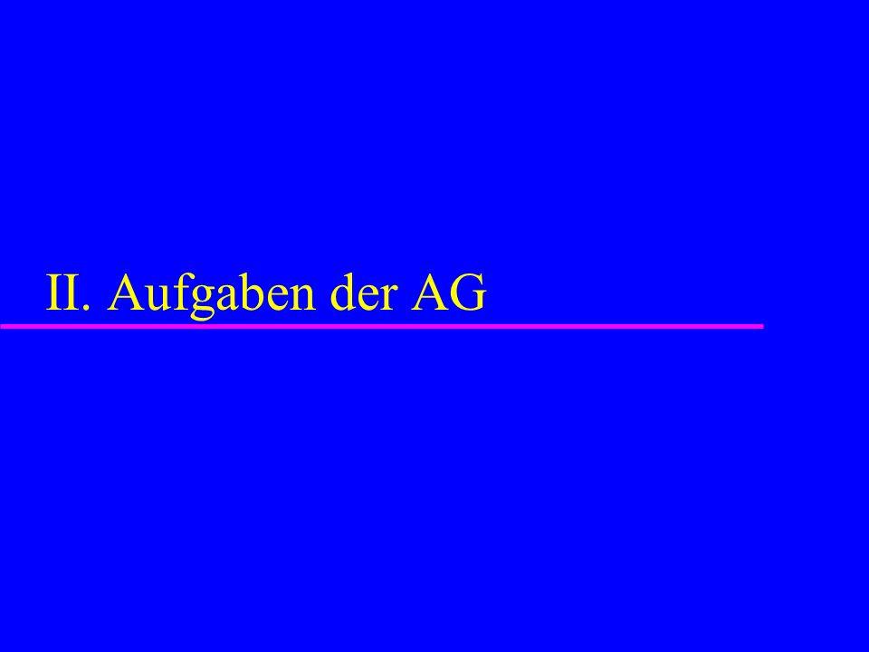 II. Aufgaben der AG