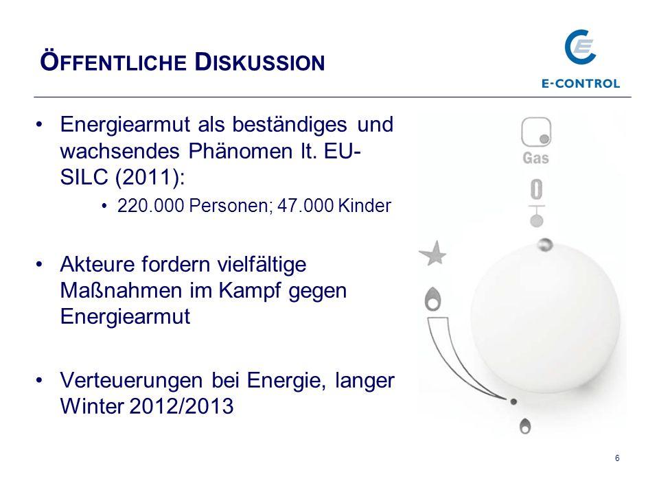 Ö FFENTLICHE D ISKUSSION Energiearmut als beständiges und wachsendes Phänomen lt.