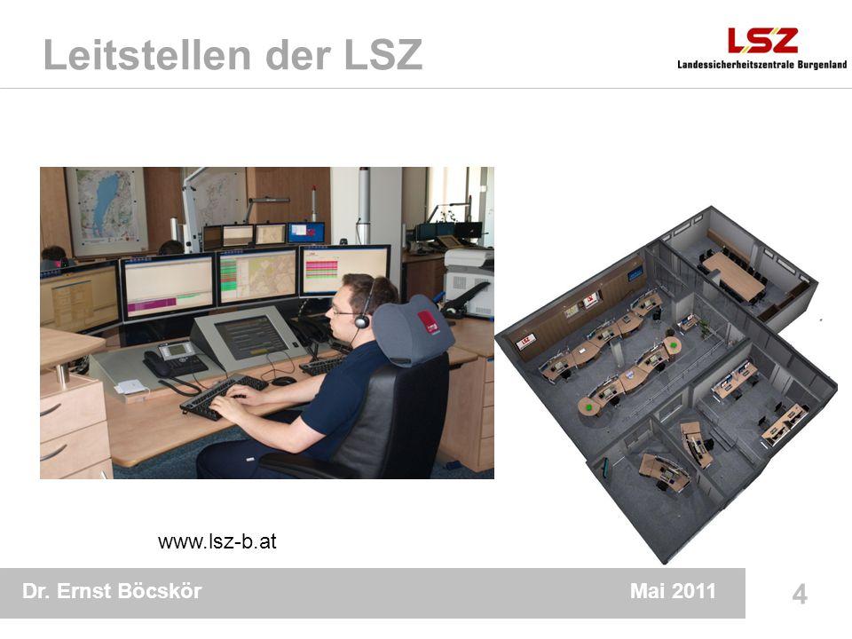 Dr. Ernst Böcskör 4 Mai 2011 Leitstellen der LSZ www.lsz-b.at