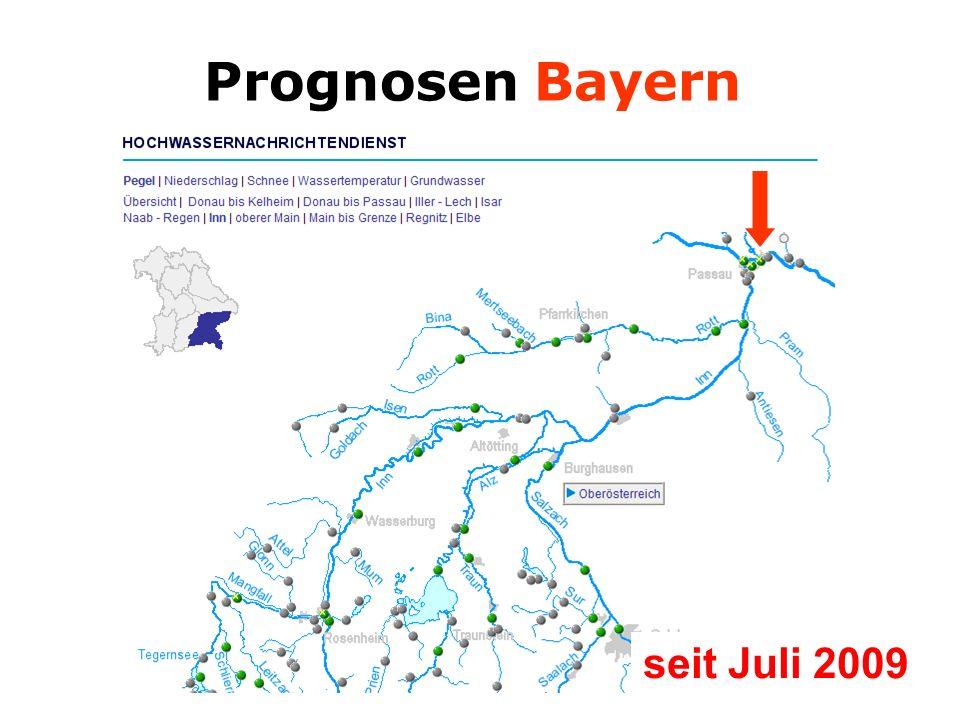 Prognosen Bayern seit Juli 2009