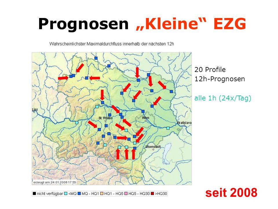 20 Profile 12h-Prognosen alle 1h (24x/Tag) Prognosen Kleine EZG seit 2008