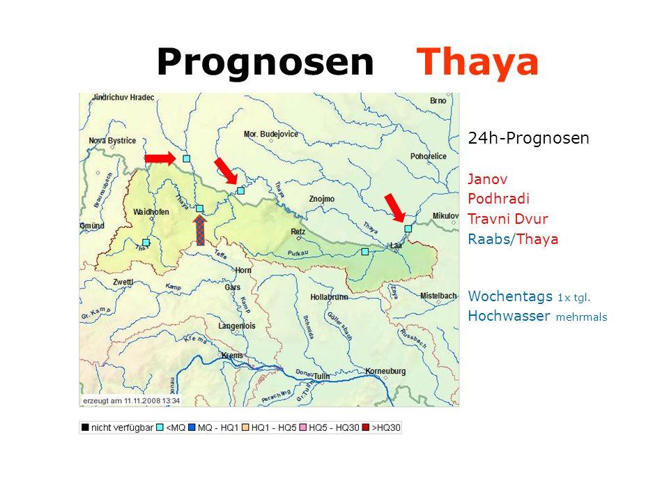 24h-Prognosen Janov Podhradi Travni Dvur Raabs/Thaya Wochentags 1x tgl.