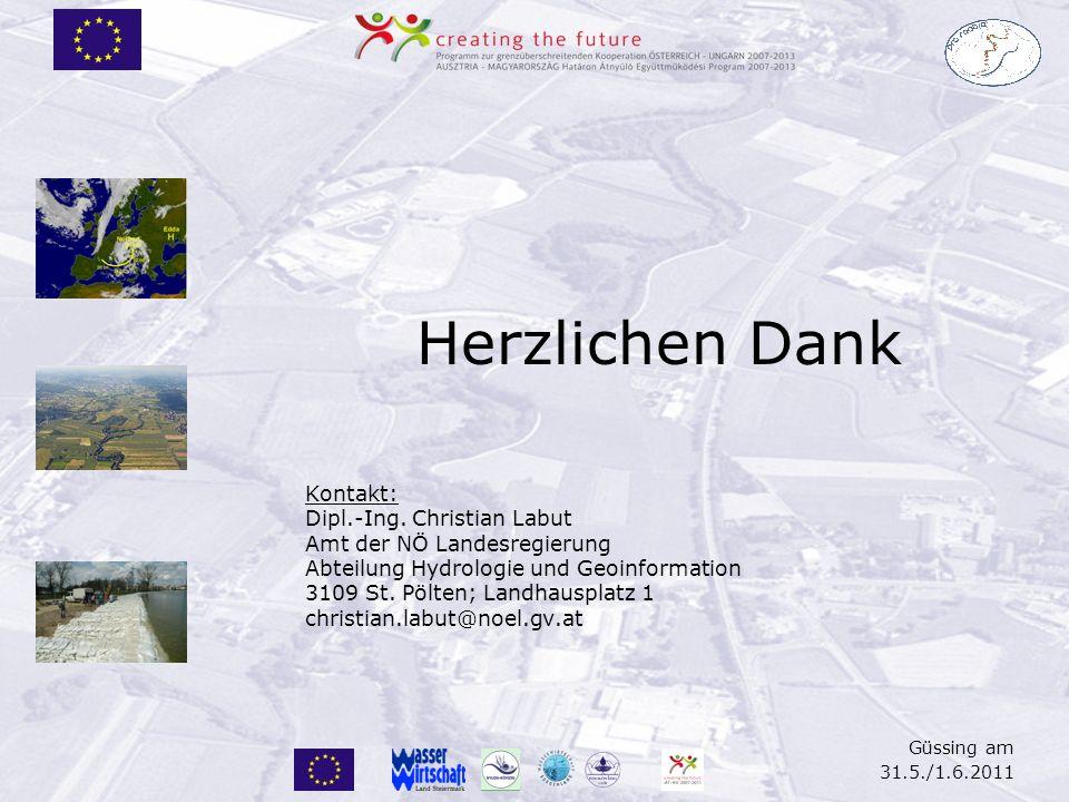 Güssing am 31.5./1.6.2011 Herzlichen Dank Kontakt: Dipl.-Ing.