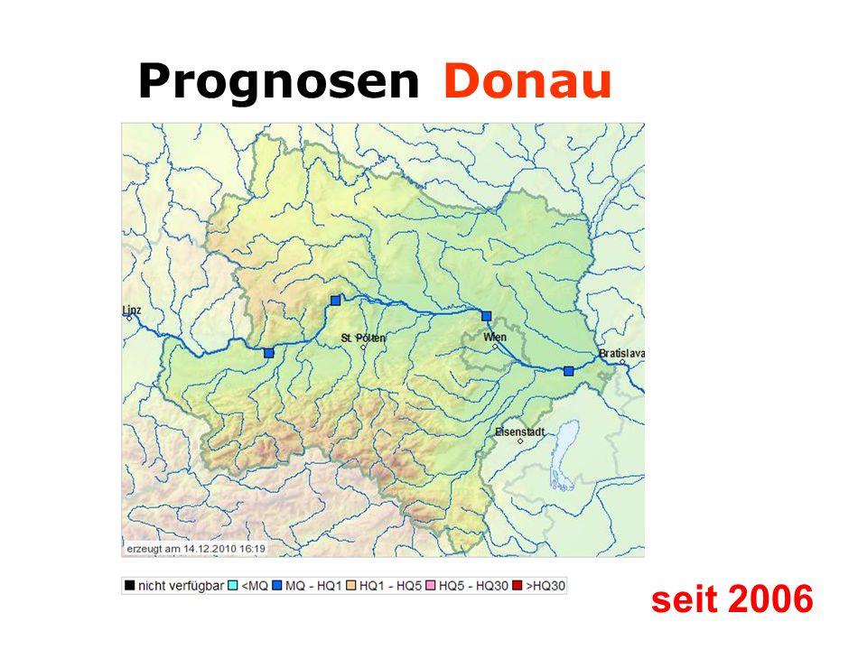 Prognosen Donau seit 2006